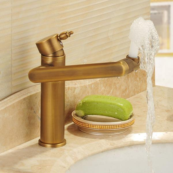2019 2017 New Arrival Rotatable Antique Brass Shower Faucet With