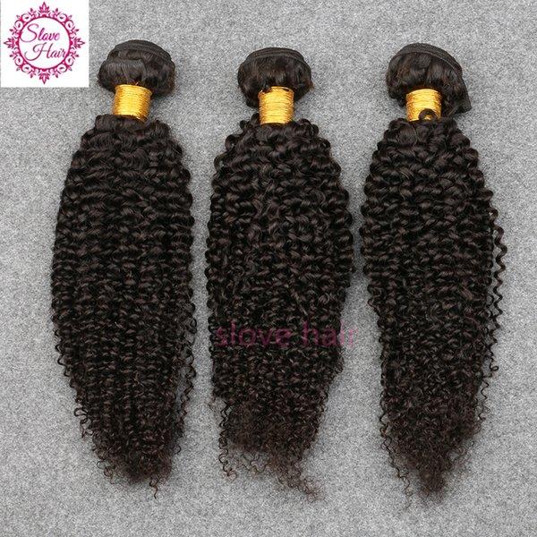 100% Não Transformados Brazillian Virgem Do Cabelo Kinky Curly Tecer Cabelo Humano Pacotes 3 Pcs Melhor Qualidade Costurar Extensões de Cabelo Trama Remy