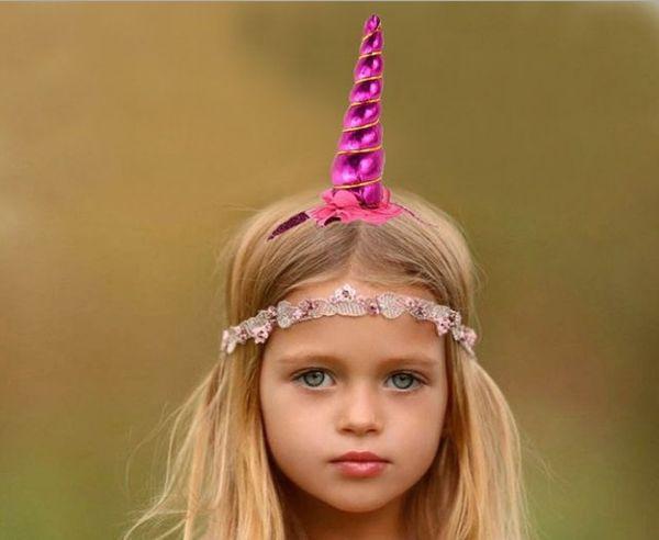 15inch Baby Girls Unicorn Headband 10color for choose Girls Hair Sticks Kids Hairpins Barrettes Kids Hair Accessories Beautiful