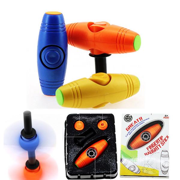 Du bout des doigts vilain bâton en plastique Mokuru Flip Toys et Finger Spinner 2-en-1 de relaxation pour l'autisme et le TDAH anti-stress jouets