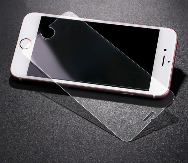 HD 0.3 mm Tempered Glass For iPhone 7 6 6s Plus 5S 5 SE 5C Screen Protector Toughened Protective Film Cleaning Kit