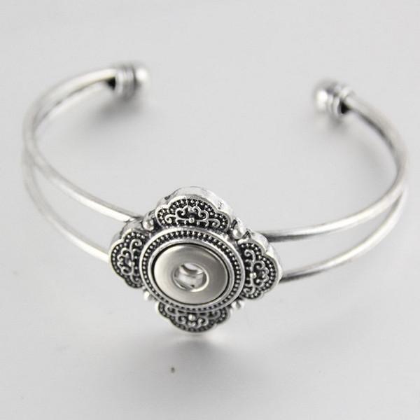 5pcs bouton argent bouton pression bijoux bracelet ajustement 18mm alliage gingembre boutons boutons pression