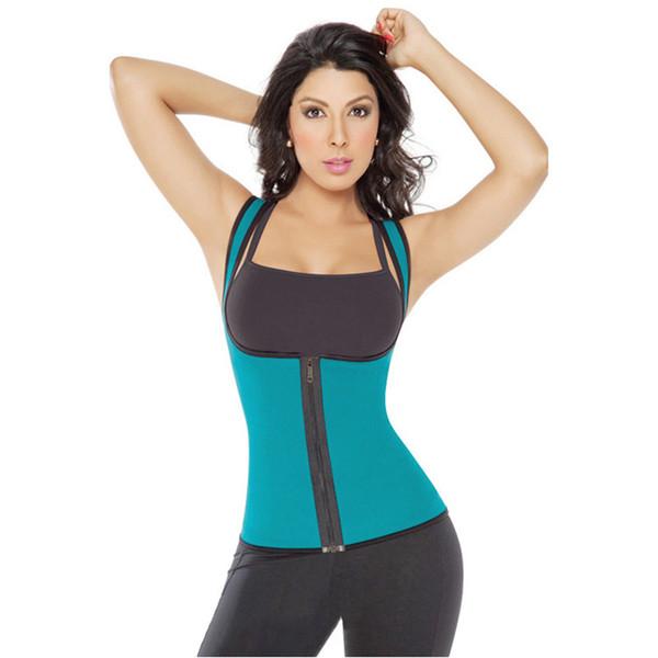 HOT 4 COULEURS minceur redu thermo cami chaud mince ceinture néoprène shaper Gilet Sweat Both Side Wearable