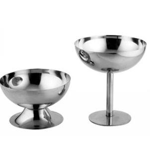Ice Cream Goblet Mug Stainless Steel Double Walled Cup Red Wine Margarita Glass Tumbler Round Cups For Pub 14st2 R