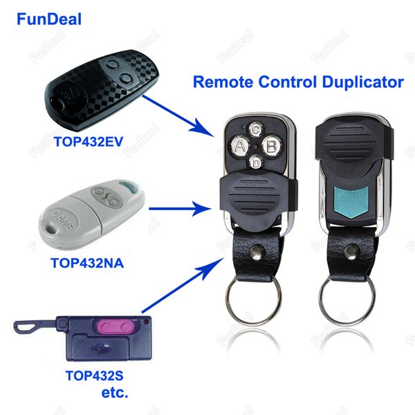 Wholesale- Universal 4CH 433.92 Mhz Copy CAME TOP432NA TOP434NA Remote Control Duplicator With Battery For Garage Door Gate 433mhz Key Fob