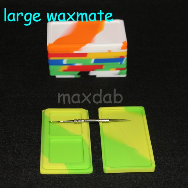 Silicone Wax Container Box silicone waxmate 5ml Capacity Silicone Jars Dry Herb Wax Box Container Dab Non Solid Color & Pure Color Wax dhl