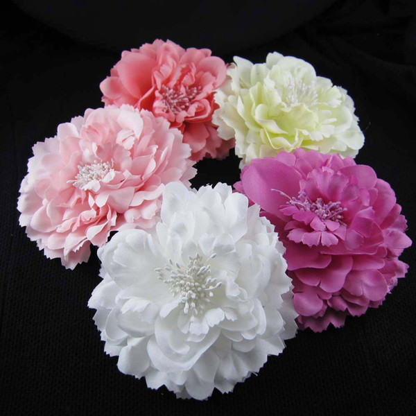 Free shipping!6colors for your choose 4''Peony flower hair alligator clip hair