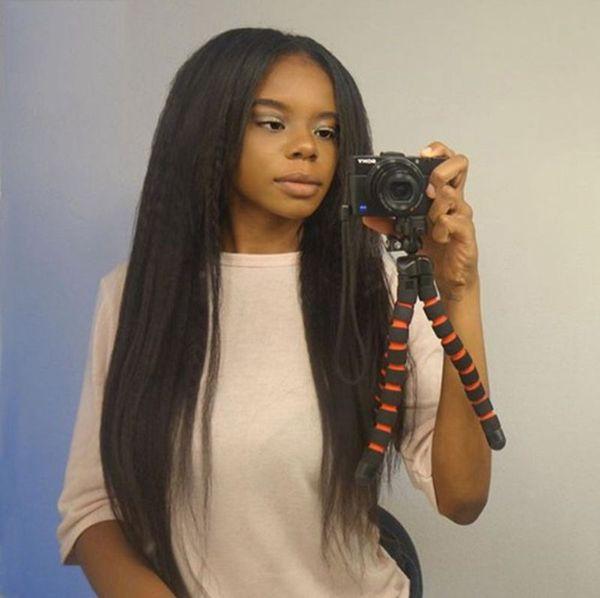 130% Density Kinky Straight Lace Front Human Hair Wigs for Black Women Brazilian Coarse Yaki Full Lace Wigs FDSHINE
