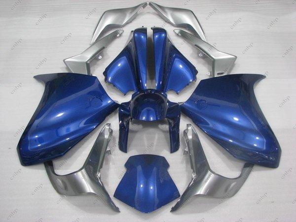 Carénages en plastique pour les carénages Honda VFR1200 2013 VFR1200 10 11 Ensembles de corps bleu noir VFR 1200 2010 2010 - 2013
