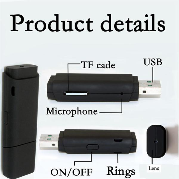 Motion Detection USB Disk Camera Full HD 1080P Mini USB Flash Drive Pinhole Camera DVR digital voice video recorder