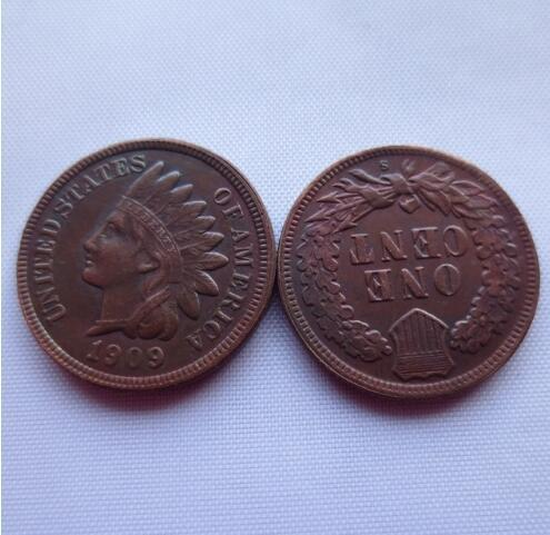 Date 1909-s Indian Head Cent copy coins - High Quality Free Shipping Promotion Cheap Factory Price nice home Accessories Coin