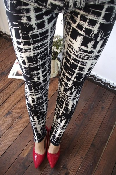New 2016 Women Leggings Pant alones Black Milk Print Leggings Summer Style Soft Skin Material Nine Women Leggings