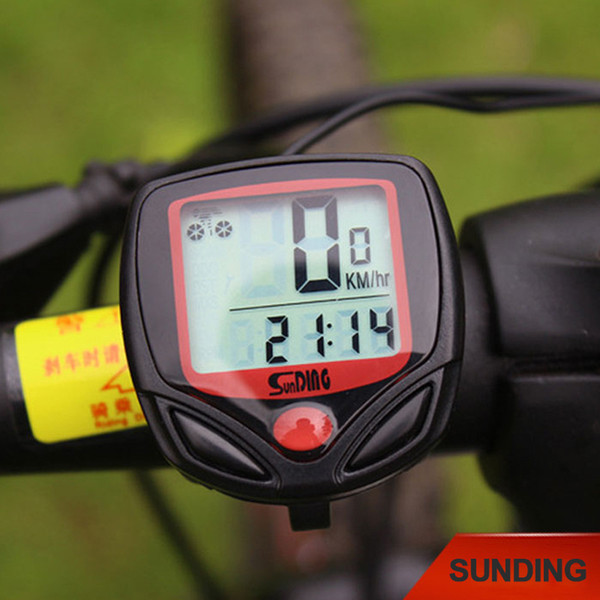 High quality Waterproof Bicycle Bike Cycle LCD Display Digital Computer Speedometer Odometer Outdoor Camping Cycling Accessories 2017