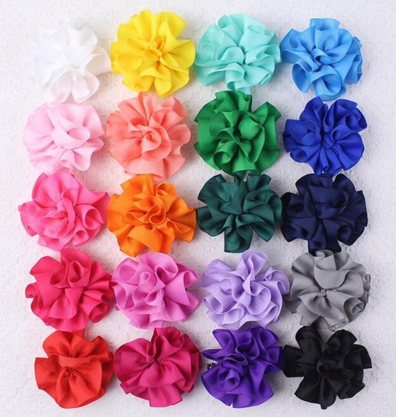Cloth Flower Love Hair Clip Girl Barrettes Exquisite Handmade Making Easy Group Heart-shape with 20 Colors 5-1