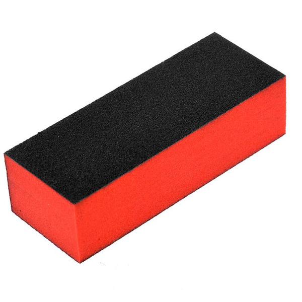 Wholesale- 10pcs Washable 3-Sided Sponge Nail Files Nail Buffers Nail Sanding Blocks (Black+Red)