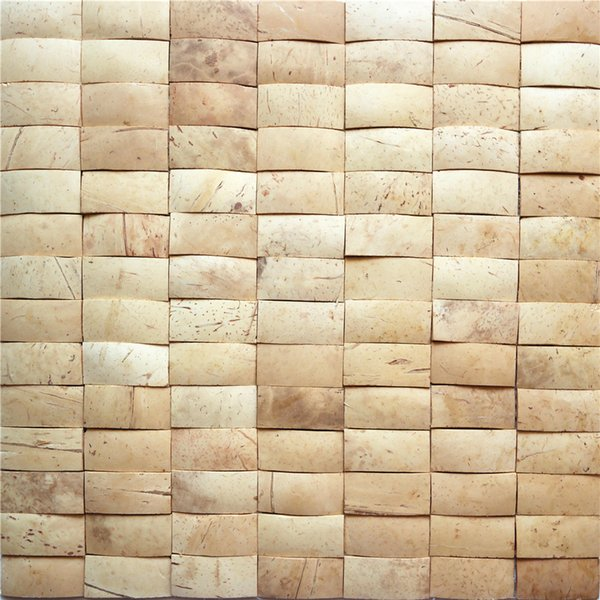 southeast asia style coconut shell mosaic tiles coconut for interior house decoration wall tiles decoration plates CCM12