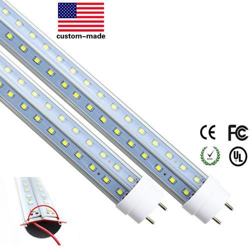 4ft Led Tube Light T8 a forma di V 1200 4 ft LED Tube Lights Trasparente / Lattea Led Tube Tube T8 Light 28W 30pcs