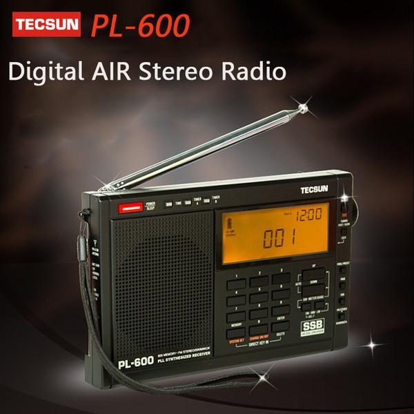 Wholesale-TECSUN PL-600 Digital Radio Tuning Full-Band FM/MW/SW-SBB/AIR/PLL SYNTHESIZED Stereo Radio Receiver