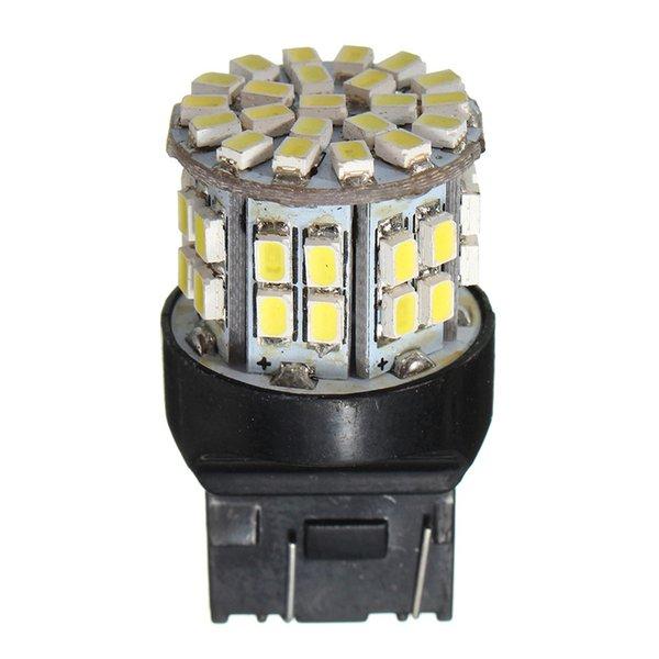 100X T20 7443 W21/5W 1206 50SMD Auto Car LED Brake Stop Rear Light Bulb Lamp Backup Reserve Lights Pure Warm White DC 12V