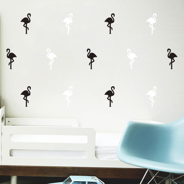Wall Sticker Lovely Flamingo Bird Little Animal Water Proof Removable Decal For Room DIY Backdrop Cartoon Art Home Decor 3 8qh F R