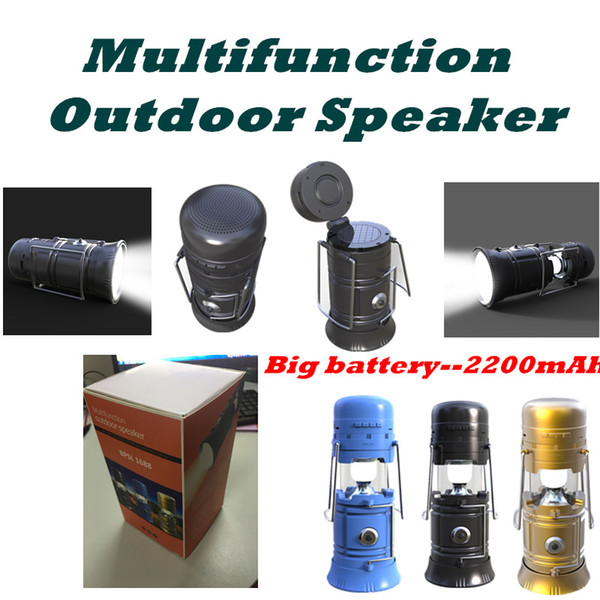 New Multi-Function Wireless Bluetooth Speaker Torch Lantern Light for Outdoor Travel Portable Solor Charger Power Bank TF Card FM Radio