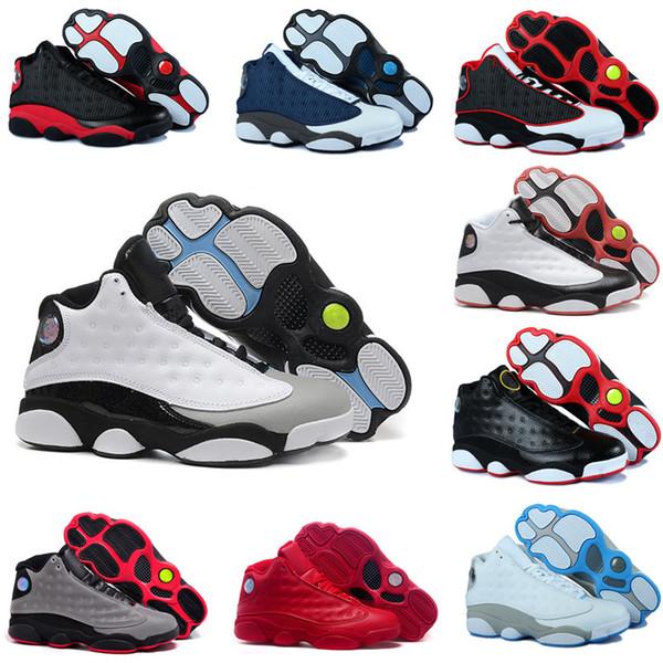 Scarpe da pallacanestro degli uomini 13s di alta qualità 13 Chicago GS Hyper Royal Black Cat Flints Bred Brown Uomo Donna sneakers jumpman Sport Taglia 7-13