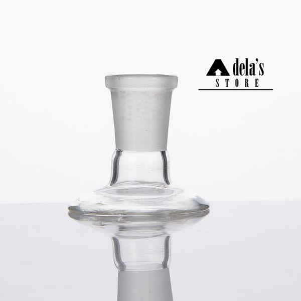 Suporte de adaptador de vidro para cúpulas de peça de tigela Adaptadores de Bongos de tubulação de água 14 mm 18 mm macho feminino fosco conjunto Dropdow Dab Rig 377