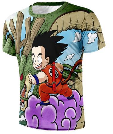 Dragon Ball Z новые моды мужские / женские милый ребенок Гоку футболка летний стиль смешные унисекс 3D печати повседневная футболка топы плюс размер AA252