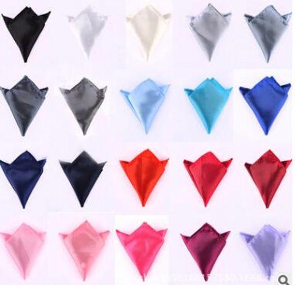 vendita calda cravatta per uomo abiti tasca asciugamani fazzoletti di colore solido piccolo quadrato banchetto di nozze cravatta spedizione gratuita
