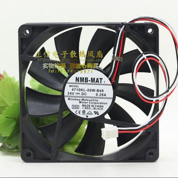 Wholesale: NMB 4710KL-05W-B49 12025 0.29A 120*120*25MM 3 wire DC device fan,