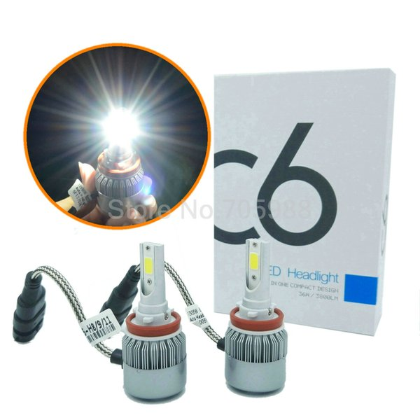 best selling H8 H9 H11 LED headlamps kit car headlights WITH COB chip 9006 9005 HB3 HB4 Auto LED headlamp bulbs led 36W 3800LM