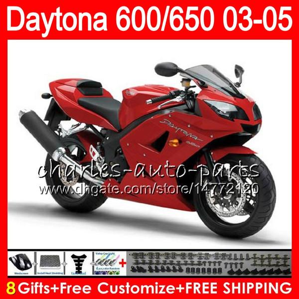 8 Presentes 23 Cores Para Triumph Daytona 600 650 03 04 05 Daytona600 Estoque vermelho 3HM29 Daytona650 Daytona 650 600 2003 2004 2005 preto Carenagem