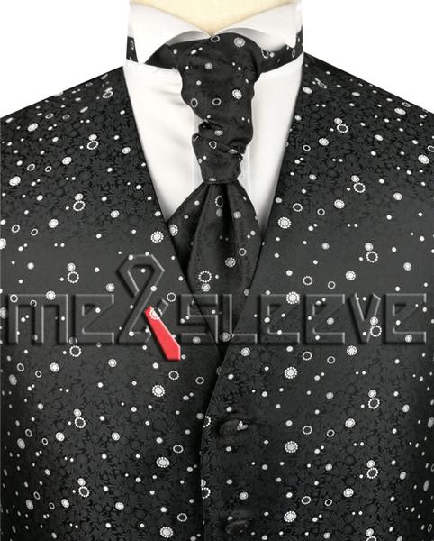 Yeni varış Erkek Takım Elbise Smokin Elbise Yelek (yelek + ascot kravat + mendil + kol düğmeleri)