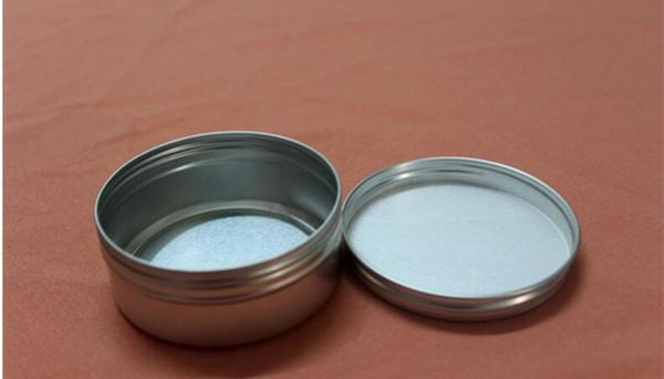 top popular 83*34mm Silver Aluminum Container Candle Holder Aluminum Jar 150ml Cream Cans Round Tin Aluminum Cream jar 2021