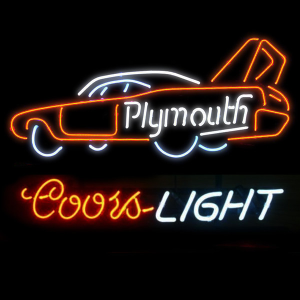 Fashion New Handcraft Phymonth Racing Car Real Glass Beer Bar Display neon sign 19x15!!!Best Offer!