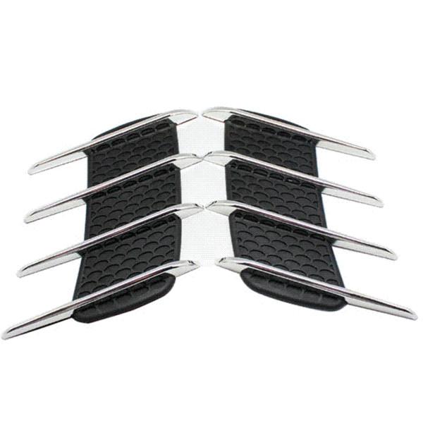 2 stücke shark gills auto styling 3d vent luftstrom kotflügel chrom legierung metall aufkleber aufkleber auto oder lkw benutzerdefinierte aufkleber kostenloser versand