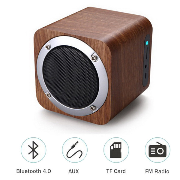 Wooden Bluetooth Speakers Wireless Portable Mini Speaker With Bass Music Sound Intelligent Call Handsfree TF Card Outdoor Subwoofers