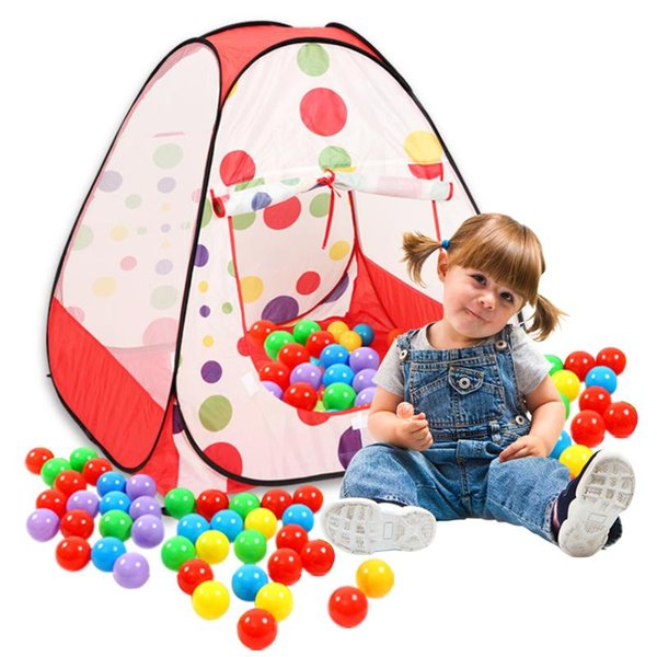 Wholesale-Portable Children Kids Play Tents Playhouse Folding Indoor Outdoor Garden Toy Tent Castle Pop Up House Multi-function Gift