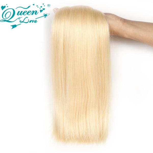 Queen Love Blonde Human Hair Bundles 613 Virgin Hair Extensions Brazilian Straight 1 Piece Human Virgin Hair Weave
