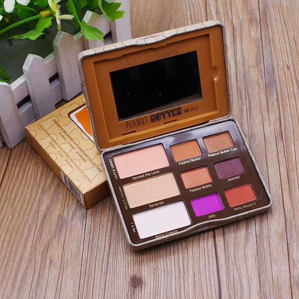 60 pcs Top qualité Face Beurre D'arachide Jelly Eye Shadow Palette 9 Couleur Fard À Paupières Palette New Arrrival livraison gratuite