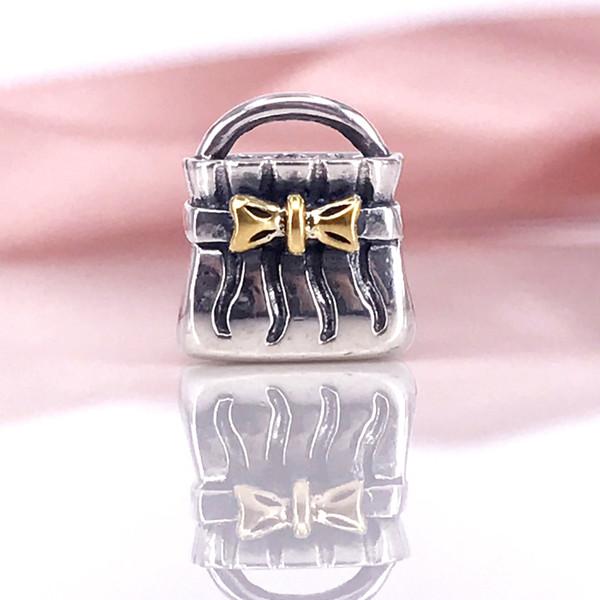 Authentische 925 Sterling Silber Bogen Geldbörse Charm Fit DIY Pandora Armband und Halskette 790474