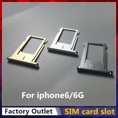Good quality SIM Card Tray for iPhone 6/6g Sim Card Holder Repair Replacement DHL Free Shipping