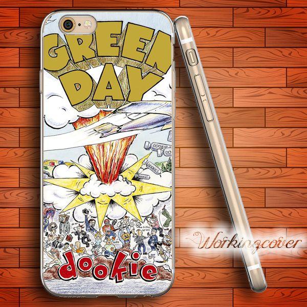 Cover in TPU Dookie Soft Clear Fundas Green Day per iPhone 6 6S 7 Plus 5S SE 5 5C 4S 4 Cover in silicone per custodia.