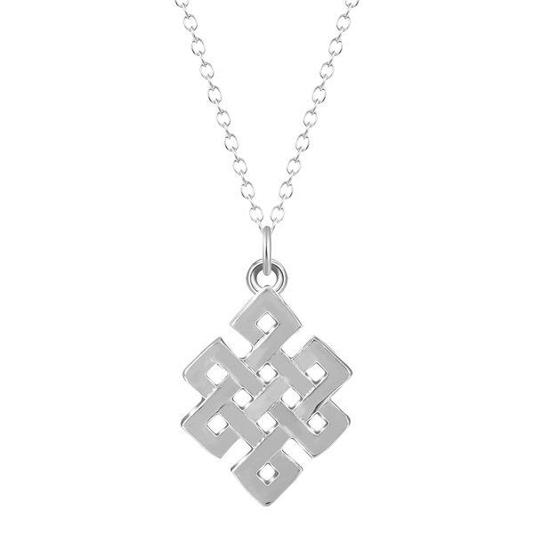 10pcs/lot Square C-eltic Knot Pendant Necklace Silver Unique Irish Jewelry Infinity Women Necklaces & Pendants Christmas Gift Lead Free