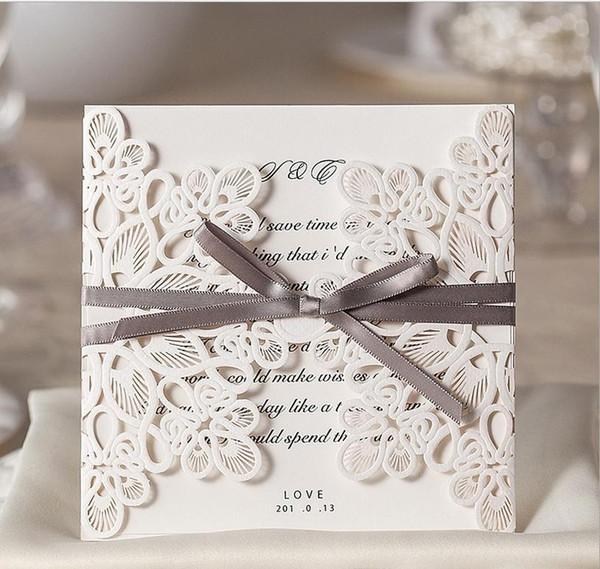 Hot Sale New Designs White Creative Wedding Invitations Custom Invitations Romantic Personality Wedding Invitation Cards Wedding Supplies Wedding