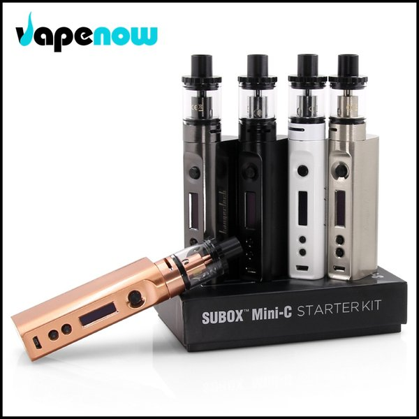 Wholesale- Original E Cigarette Vape Kanger Subox Mini-C Starter Kit with 3ml E-juice Capacity SSOCC coil 7-50W Kangertech Vaporizer