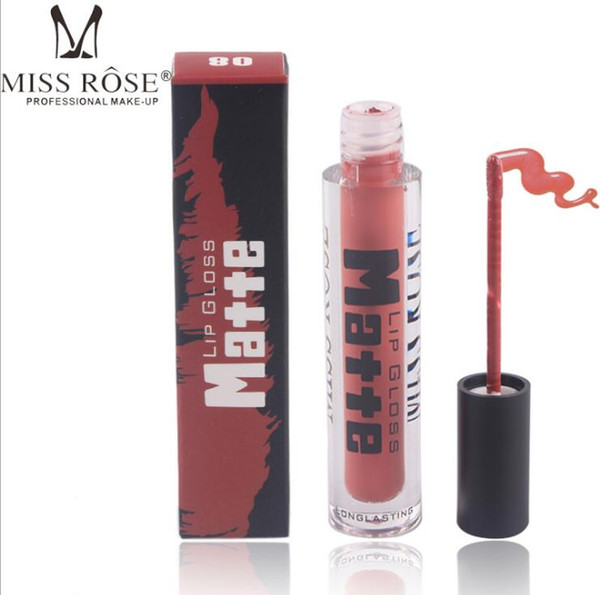 MISS ROSE Lipstick Moisturizer Smooth Lips Stick Long Lasting Lip Lipstick Cosmetic Sexy Nude Brown Matte Velvet Lipstick