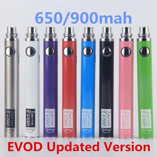 UGO-V II Vape Pen Battery 510 eGo Thread UGO Sigarette elettroniche oringinali UGO VII Batterie eVod EcPow Marchio sfuso in magazzino By ePacket