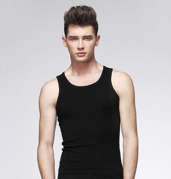 Großhandels- Neue 2017 populäre Mens-Jungen-Trägershirt-Muskel-Sleeveless T-Shirt Sportwear Weste-Unterhemd-Schwarz-Grau-Weiß XL-3XL geben Verschiffen frei