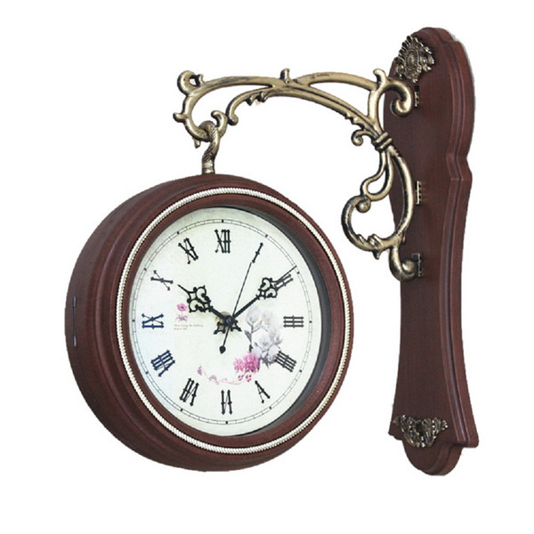 Wholesale- Antique Style Double Sided Interior Wall Clock Double Faced Vintage Home Decor
